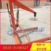 500公斤托盘液压小吊车 4个工位调节龙升小型液压吊机