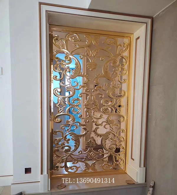 家装不锈钢隔断玄关装饰金属屏风厂家